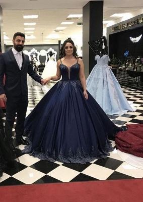Navy Blau Abendkleider Lang Günstig | Abendmoden Online Kaufen_1