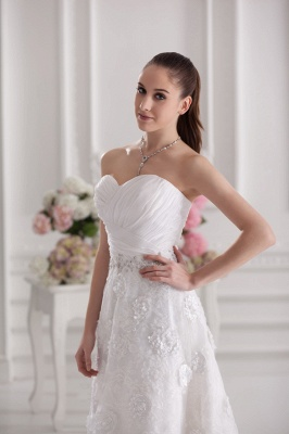 New Wedding Dresses Short With Lace A Line Knee Length Dresses Wedding Gowns Cheap_3