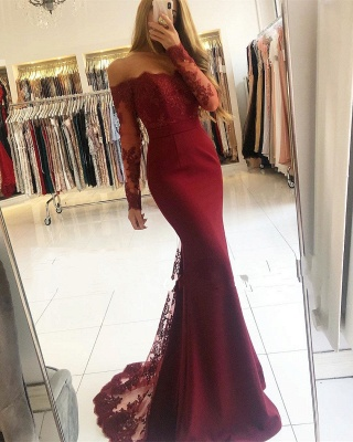 Weonrot Evening Dresses With Sleeves | Lace Evening Wear Cheap Online_1