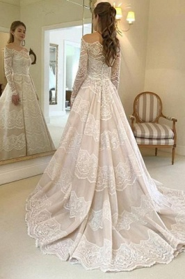 Elegant wedding dresses with sleeves | Lace Wedding Dresses Cheap Online_2