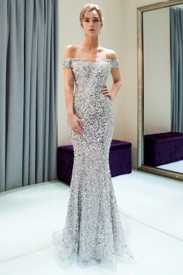 Modern silver evening dresses prom dresses long cheap online_2
