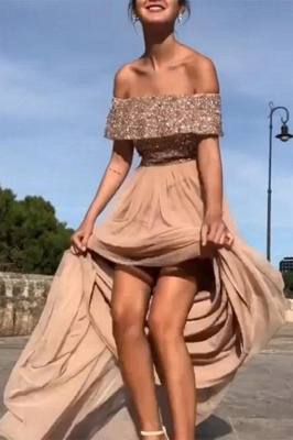 Elegant chiffon evening dresses long cheap sheath dresses prom dresses online_1