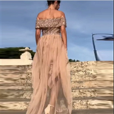 Elegant chiffon evening dresses long cheap sheath dresses prom dresses online_3