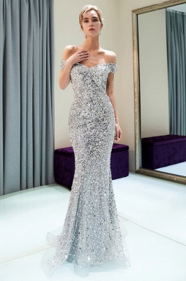Modern silver evening dresses prom dresses long cheap online_3