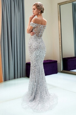 Modern silver evening dresses prom dresses long cheap online_4