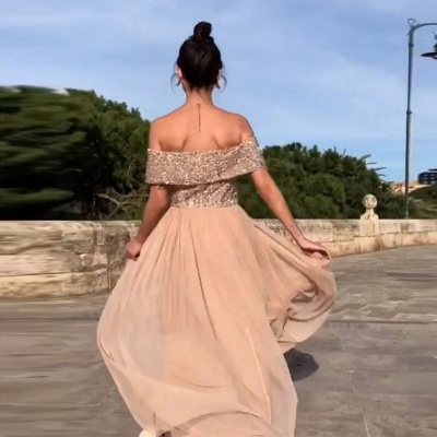 Elegant chiffon evening dresses long cheap sheath dresses prom dresses online_2