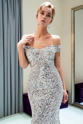 Modern silver evening dresses prom dresses long cheap online_5