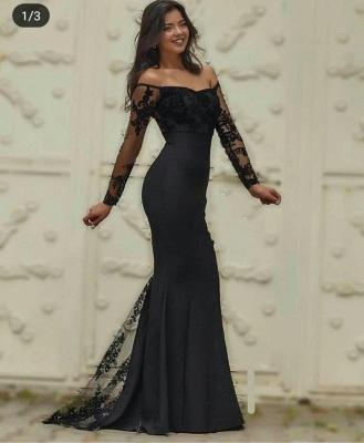 Schlichte Abendkleider Weinrot Mit Ärmel | Schwarze Abendmoden Online_2