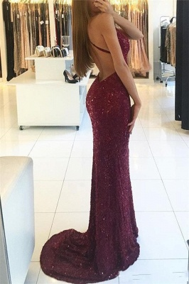 Sexy Evening Dresses Long Wine Red Mermaid Prom Dresses Evening Mdoen Cheap Online_2