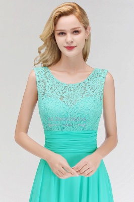 Mint Green Long Chiffon Bridesmaid Dresses With Lace Sheath Dresses For Bridesmaids_1