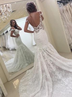 Elegante Brautkleider Spitze | Meerjungfrau Hochzeitskleider Günstig Online_1