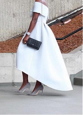 Schlichte Brautkleider Kurz A Linie Weiße Hochzeitskleider Günstig Online_4