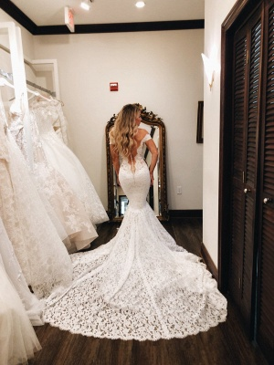 Sexy mermaid wedding dress | Wedding dresses with lace online_3
