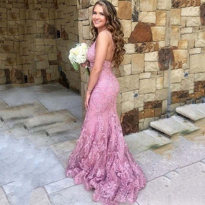 Elegant evening dresses with lace | Cheap Long Prom Dresses Online_2