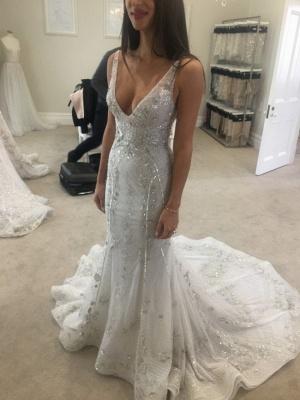 Brautkleider mit Spitze | Hochzeitskleider Lang Glitzer_1