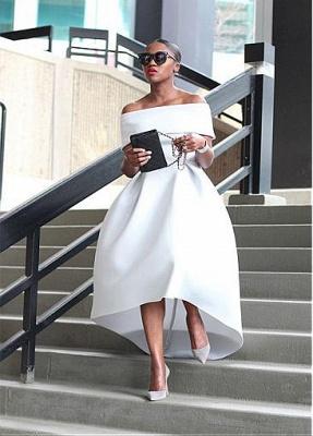 Schlichte Brautkleider Kurz A Linie Weiße Hochzeitskleider Günstig Online_2