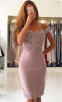 Simple Cocktail Dresses Short With Lace Mini Prom Dresses Prom Dresses_1