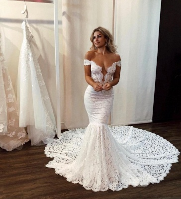 Sexy mermaid wedding dress | Wedding dresses with lace online_2
