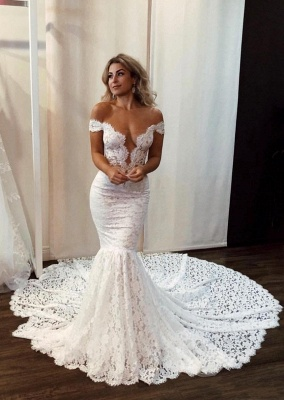 Sexy mermaid wedding dress | Wedding dresses with lace online_1