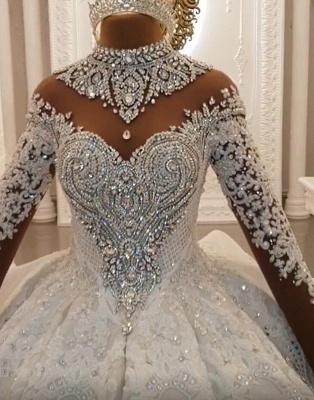 Luxus Brautkleider Mit Ärmel | Hochzeitskleider Prinzessin mit Schleppe_5