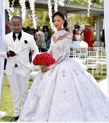 Luxus Brautkleider Mit Ärmel | Hochzeitskleider Prinzessin mit Schleppe_1