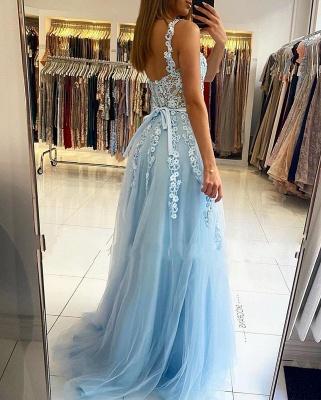 Abendkleider Blau | Abiballkleider Lang Günstig Online_2