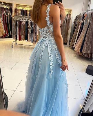 Abendkleider Blau | Abiballkleider Lang Günstig Online_3