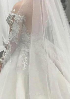 Elegante Brautkleider Mit Ärmel | Hochzeitskleider A Linie Spitze_2