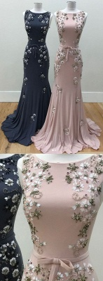 Luxury Evening Dresses Long Cheap Pink Mermaid Prom Dresses Evening Wear_2
