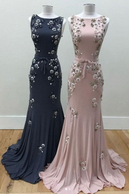 Luxury Evening Dresses Long Cheap Pink Mermaid Prom Dresses Evening Wear_1