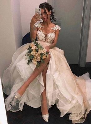 Elegante Brautkleider A Linie | Hochzeitskleider mit Spitze_1