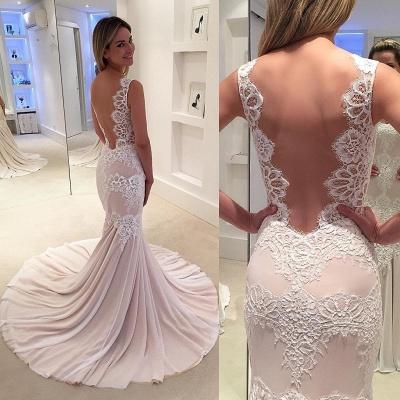 Designer Hochzeitskleider Standesamt Spitze Meerjungfrau Brautkleider Online Kaufen_3