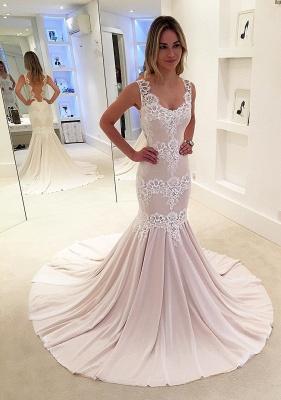 Designer Hochzeitskleider Standesamt Spitze Meerjungfrau Brautkleider Online Kaufen_2