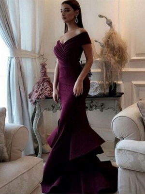 Modern Evening Dresses Long Cheap Mermaid Prom Dresses Floor Length Evening Wear_1