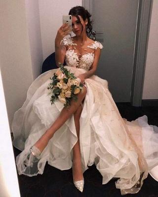 Elegante Brautkleider A Linie | Hochzeitskleider mit Spitze_2
