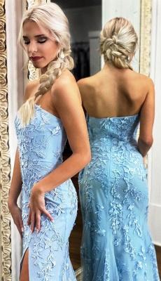 Elegante Abendkleider Lang Spitze | Abiballkleider Online Kaufen_2