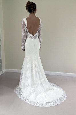 Günstig Weiße Hochzeitskleider Spitze Günstig Meerjungfrau Brautkleider Online Kaufen_3