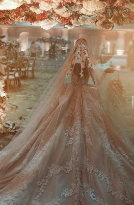 Fashion Champagne Brautkleider Mit Ärmel Spitze Hochzeitskleider Günstig_2