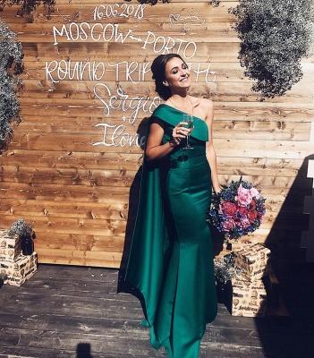 Simple evening dresses long cheap | Evening wear green online_5
