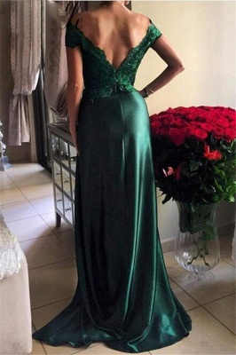 Turquoise Evening Dresses Long With Lace Off Shoulder Mermaid Evening Wear Party Dresses_3