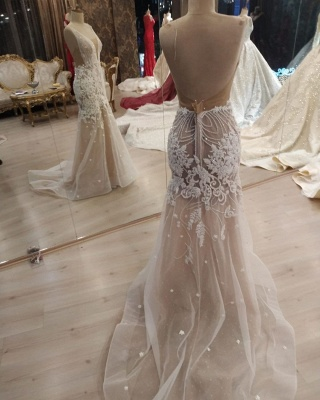 Elegant wedding fashion mermaid | Wedding dresses with lace_3