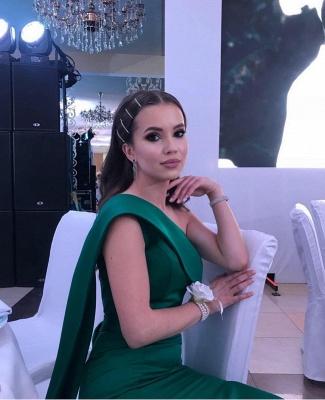 Simple evening dresses long cheap | Evening wear green online_2