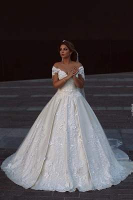 Designer White Wedding Dresses With Lace Free Shipping A Line Bridal Wedding Gowns Online_1