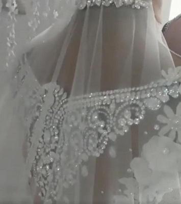 Designer Brautkleider Mit Spitze Blumen Weiße Hochzeitskleider online_3