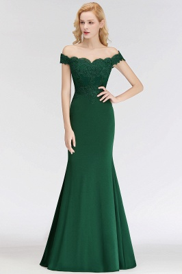 Elegant Bridesmaid Dresses Green Long With Lace Bridesmaid Dresses