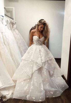 Luxus Brautkleider A linie | Spitze Brautmoden Online Kaufen_1