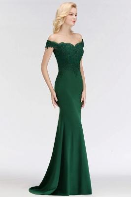 Elegant Bridesmaid Dresses Green Long With Lace Bridesmaid Dresses_3
