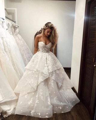 Luxus Brautkleider A linie | Spitze Brautmoden Online Kaufen_2