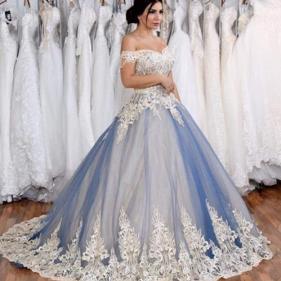 Blue Cheap Quinceanera Dresses Cheap Lace Beaded Lace Prom Dresses Online_3