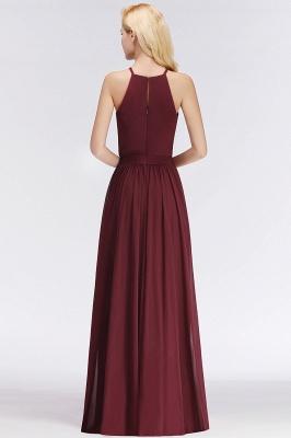 Designer Brautjungfernkleider Lang Chiffon Dunkel Rot Kleider für Brautjungfern_5